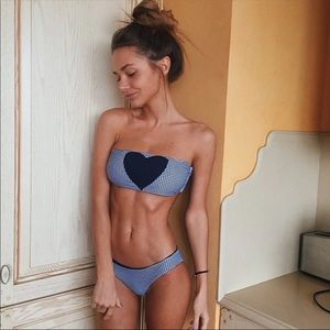 Other - Blue strapless bikini